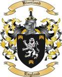 Kinsland Family Coat of Arms from England
