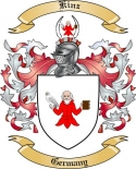 Kinz Family Crest from Germany