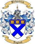 Kirkpatrick Family Coat of Arms from England