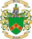 Kirley Family Crest from Ireland