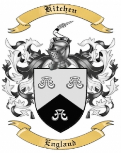 Kitchen Family Crest from England
