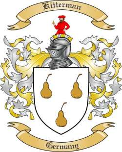 Kitterman Family Coat of Arms from Germany