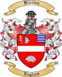 Klaxton Family Coat of Arms from England