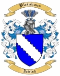 Kleinhans Family Coat of Arms from Jewish