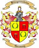 Klingennsteine Family Crest from Germany2