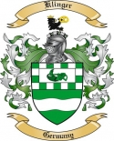 Klinger Family Coat of Arms from Germany