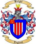 Knight Family Crest from England