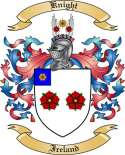 Knight Family Crest from Ireland