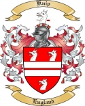 Knip Family Crest from England