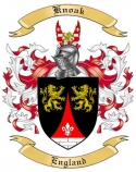 Knoak Family Coat of Arms from England