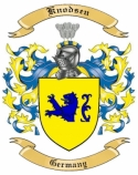 Knodsen Family Crest from Germany