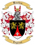 Knokes Family Coat of Arms from England