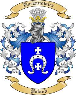 Kockanowicz Family Crest from Poland