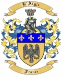 L'Aigle Family Crest from France