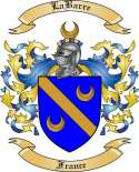 LaBarre Family Crest from France