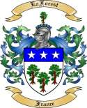 LaForest Family Crest from France