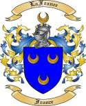 LaFrance Family Crest from France