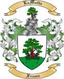 LaMotta Family Coat of Arms from France