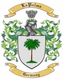 LaPalma Family Coat of Arms from Germany