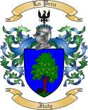 LaPera Family Coat of Arms from Italy