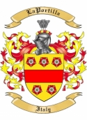 LaPortilla Family Coat of Arms from Italy