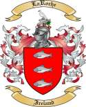 LaRoche Family Crest from Ireland