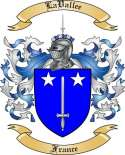 LaVallee Family Coat of Arms from France