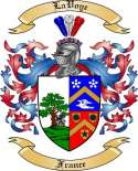 LaVoye Family Crest from France