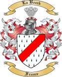 La Breck Family Crest from France