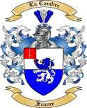 La Cambre Family Coat of Arms from France