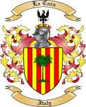 La Cara Family Crest from Italy