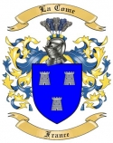 La Come Family Crest from France2