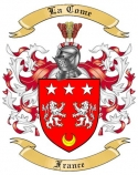 La Come Family Coat of Arms from France