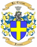 La Croise Family Crest from France