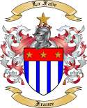 La Fave Family Coat of Arms from France