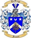 La Frage Family Coat of Arms from France