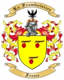 La Framboisiere Family Crest from France
