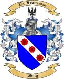 La Francesca Family Crest from Italy