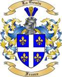 La Gouin Family Crest from France
