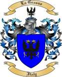 La Grasso Family Crest from Italy