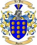 La Paz Family Coat of Arms from Spain