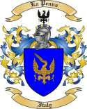 La Penna Family Coat of Arms from Italy