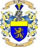 La Pierre Family Crest from France