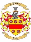 La Portilla Family Crest from Italy