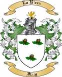 La Rizza Family Crest from Italy