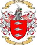 La Roche Family Crest from Ireland