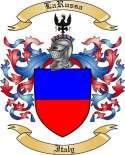 La Russa Family Crest from Italy