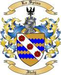 La Spina Family Crest from Italy