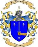 La Tremouille Family Crest from France
