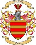 La Valle Family Coat of Arms from France